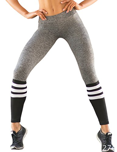Striped Print Stitching Yoga Pants Tight Fit Pants (Striped Yoga)