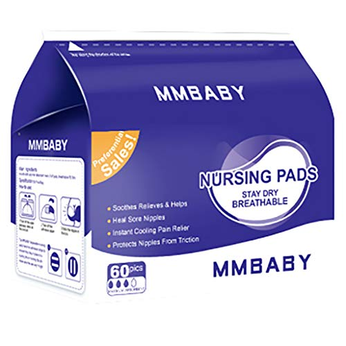 - MMBABY Nursing Pads,2 Packs of 60 (120 Count) Stay Dry Disposable Breast Pads (BB0253-120 Count)