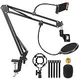 Microphone Stand, Magicfun Mic Boom Arm Desk