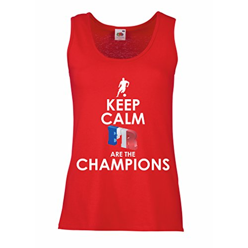 lepni.me Womens Tank Tops French are The Champions - Russia Championship 2018, World Cup Soccer Team of France Fan Shirt (Small Red Multi Color)