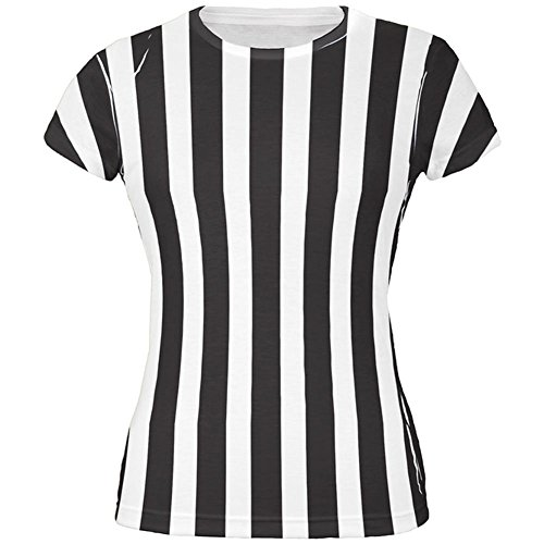 Referee Costume T-shirts (Halloween Referee Costume All Over Juniors T Shirt Multi)