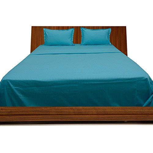 - Dream'z Bedding 350-Thread-Count Egyptian Cotton Bed Sheet Set 30 Inch Extra Deep Pocket California King/Western King/King-Cal King Waterbed Size, Turquoise Blue/Teal Solid