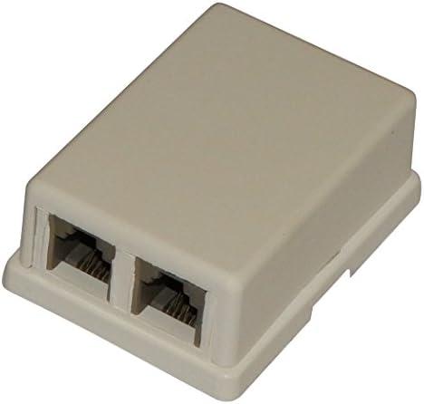 Aerzetix Telefondose Telefonbuchse Rj11 6p4c Dual Elektronik