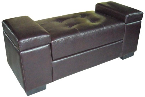 ORE International HB4242 Storage Bench, Dark Brown