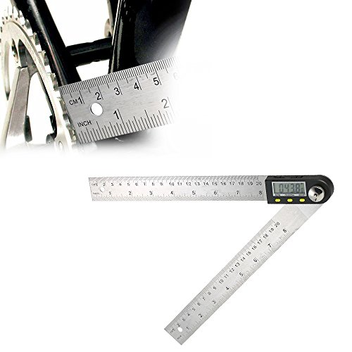 KKmoon Digital Angle Finder Ruler Protractor 0-200mm / 8 inches Stainless Steel Protractor with Reversible Reading Hold Function by KKmoon (Image #7)