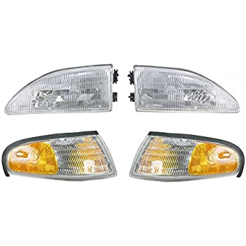 Replacement Depo 331-1151R-AS Passenger Side Headlight for 94-98 Ford Mustang F4ZZ13008E FO2503130