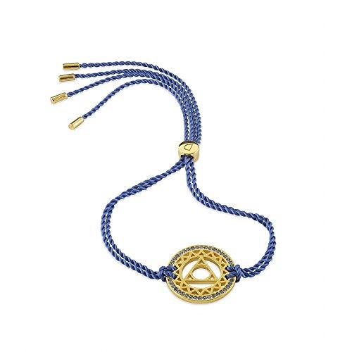 Daisy Blue Gold Swarovski Crystal Throat Chakra Bracelet