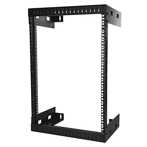StarTech.com Wall Mount Server Rack - 15U Rack - 12in Deep - Open Frame - Network Rack - Wall Mount Rack - Equipment Rack - 2 Post (Startech Wall Mount)