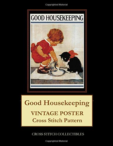 Good Housekeeping  Vintage Poster Cross Stitch Pattern