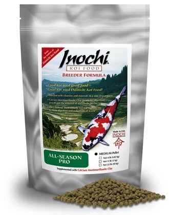 Inochi All-Season Pro Koi Food, Medium Pellet (22 LB) by Dainichi by Dainichi