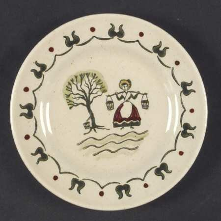 Provincial Homestead - Metlox Homestead Provincial Poppytrail Handpainted Bread & Butter Plate Discontinued 1982