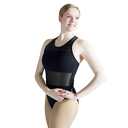 Dance Leotard Halter (HDW DANCE Ballet Halter Leotard for Women Cotton Dance Bodysuit (S, Black))