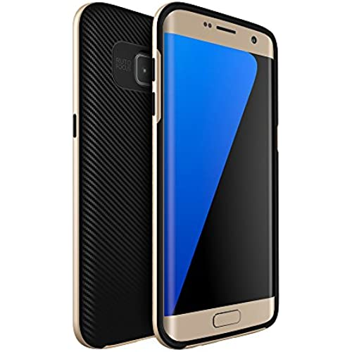 Onway Best Durable Flexible Rubber 2 In 1 Hybrid Ultra Thin Slim Fit CaseFor Samsung Galaxy S7 5.1 Inth Gold Sales