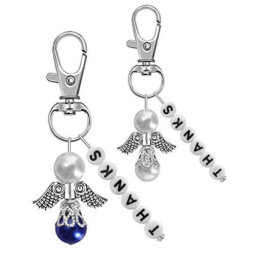 KNMY – 30 colgantes de ángel de la guarda para bodas, con bolsa de organza, para regalar en bodas y bautizos