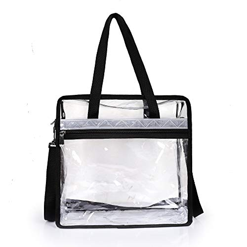 Thirtythree July Handheld Transparent Diagonal Cross-Body Bag NFL&PGA Stadium Approved - Adjustable Shoulder Strap and Zip Closure for Work, School, Travel, Shopping, Sports Games and Concerts