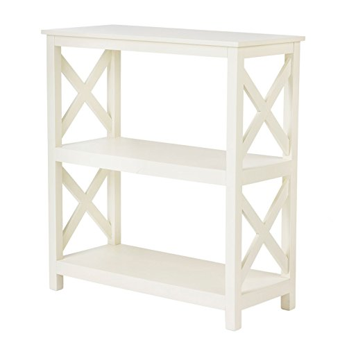 Pearington Multi Purpose Fully Assembled X Design Side/End Table with Storage, Antique White