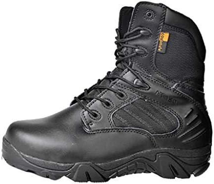 Männer Tactical Stiefel Militärstiefel Ultrabreathable Side Zipper im Freien Wandern Wüste Trekkingschuhe Polizei Sicherheit Cadet Boots