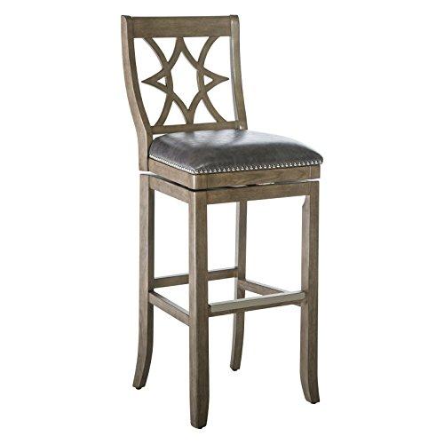 Belham Living Oliver Square Seat Swivel Extra Tall Bar Stool (Gray) (Stool Swivel Tall 34)