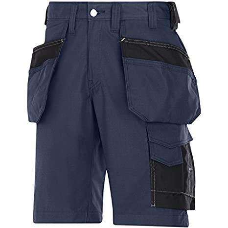 Snickers 30231804050 Rip-Stop artisan shorts with holster pouch size 50 Grey