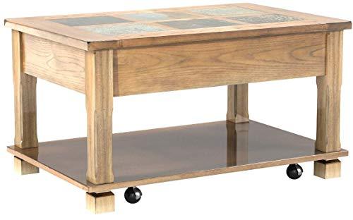 (Progressive Furniture P468-15 Rustic Ridge Cocktail Table, Light Oak/Slate)