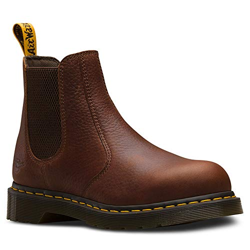 (Dr. Martens Work Women's Arbor Steel Toe Chelsea Boot Teak 4 B UK)