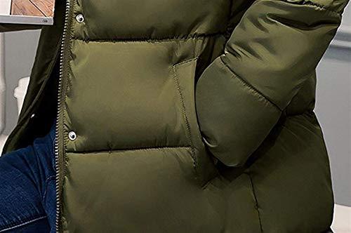 Plumas 3 Invierno Parka Acolchado Armygreen Largos Mujer Pluma Manga Piel Larga Slim Fit Abrigo De Termica Espesar Capucha Con xp6WUA