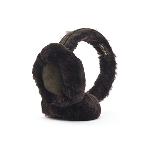 Classic Australian sheepskin Ear Warmer from Ikepod – for men and women (Chocolate) by IKEPOD