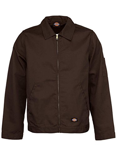 Dark Brown Hombre Lined Eisenhower chaqueta Dickies 6WRY7Tpqx