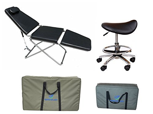 Dental Power Portable Patient Chair & Saddle Horse Chair with Bags