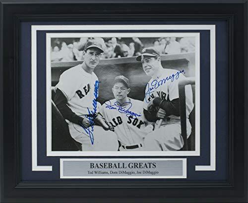 - Joe Dimaggio Dom Dimaggio Ted Williams Autographed Signed Memorabilia Framed Legends 8x10 Photo - PSA/DNA Authentic