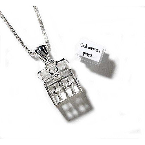 Three Person Group Costume Ideas (Treasure Chest Prayer Box Women's Silver-Plated 24 Inch Chain Pendant Necklace)