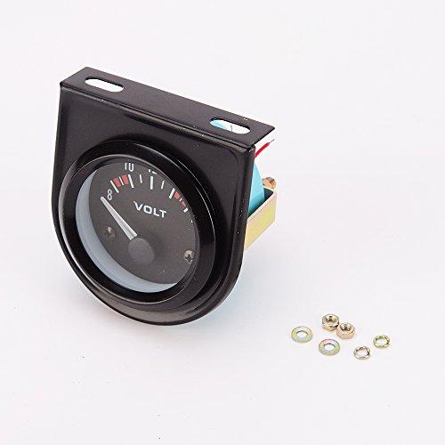 Universal Voltmeter Gauge Meter 8-16V Racing Car 2 inch 52mm Auto Gauge ()