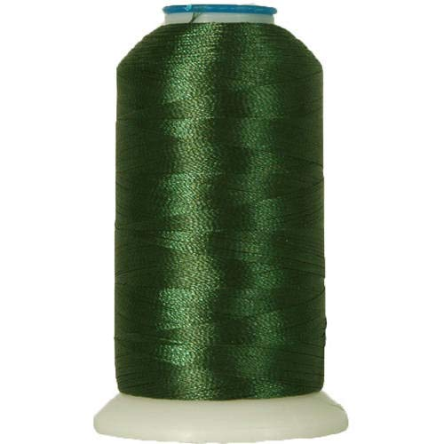 Threadart Polyester Machine Embroidery Thread By the Spool - No. 184 - Evergreen - 1000M - 220 Colors Available ()