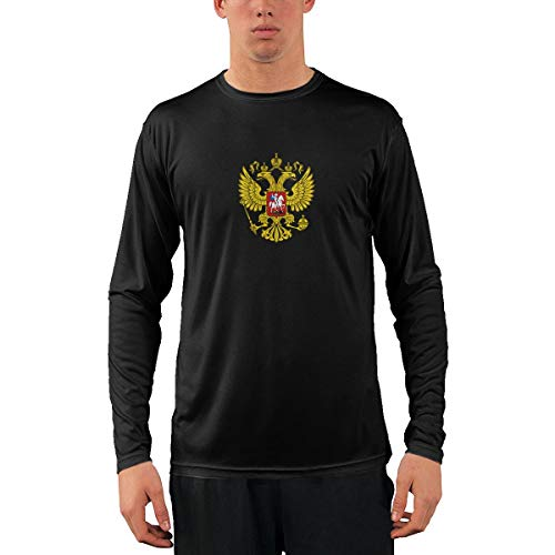 Russia's Coat of Arms Man's Long Sleeve Crew Neck Tee ()