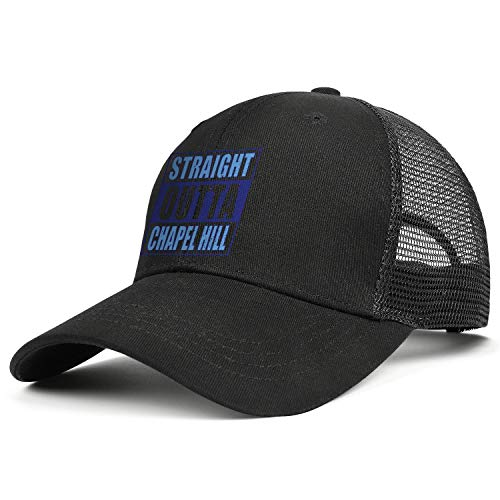Unisex Classic Mesh Baseball Cap-North Carolina Straight Outta Chapel Hill Style Low Profile Travel Sunscreen Hat Outdoors