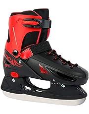 Selltex schaatsen in paars/wit en zwart/rood verstelbaar maat 30-33, 34-37, 38-41 -voorgeslepen
