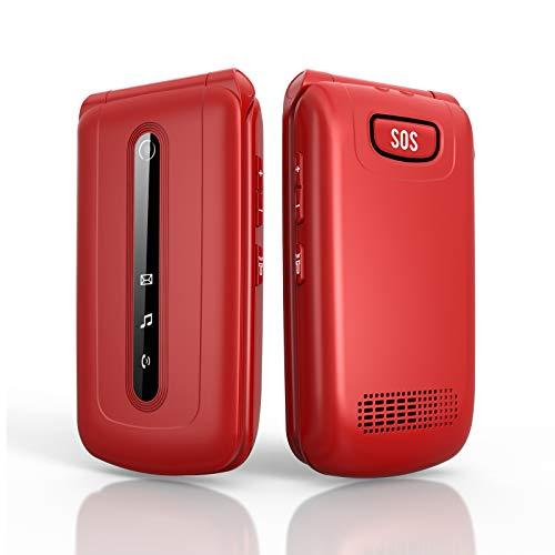 🥇 Ukuu 3G Teléfono Móvil con Tapa para Personas Mayores Dual SIM