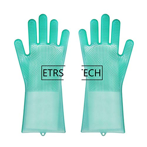 20 Pairs Silicon Dish Scrubber Rubber Gloves Food Grade Cleaning Sponge Dishwashing Brushs Magic Silicone Gloves Mix