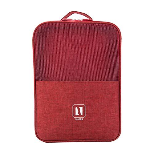 Nuovo Sacchetto di Immagazzinaggio Scarpa da Viaggio Sacchetto di Immagazzinaggio Impermeabile Sacchetto Cationico Sacchetto di Immagazzinaggio Portatile Multifunzionale rosso