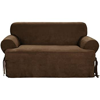 Amazoncom Sure Fit Duck Solid TCushion Sofa Slipcover Sage