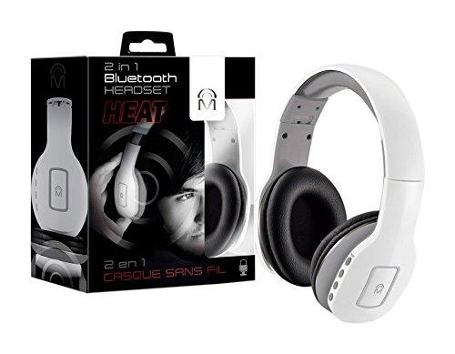 Amazoncom Mental Beats 83524 2 In 1 Heat Bluetooth Headset White
