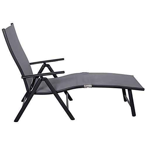 Sundale outdoor deluxe aluminum beach yard pool folding for Aluminum folding chaise lounge