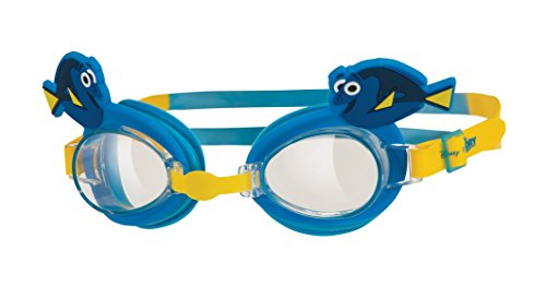 Zoggs Lunettes de natation réglables pour enfant Personnage «Le Monde de Dory» bleu/jaune