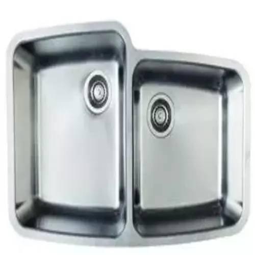 1.75 Medium Double Bowl - Blanco 441118 Performa MicroEdge 1-3/4 Medium Bowl Kitchen Sink, Stainless Steel