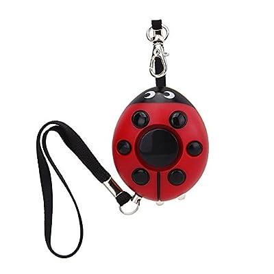 WER 125dB Ladybug Emergency Personal Alarm Keychain with Led Flashlight for Kids/Students/Women/Girls/Elderly/Adventurer/Night Workers Self Defense/Protection Electronic Device Bag Decoration