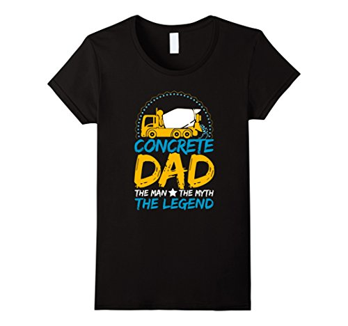 Womens CONCRETE DAD THE MAN THE MYTH THE LEGEND T-SHIRT Large Black