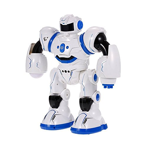 DraWaoy Remote Control Interactive Robot, RC Programmable Robotics Singing Dancing Walking Gesture Sensor for Kids Boys Girls(Blue) by DraWaoy