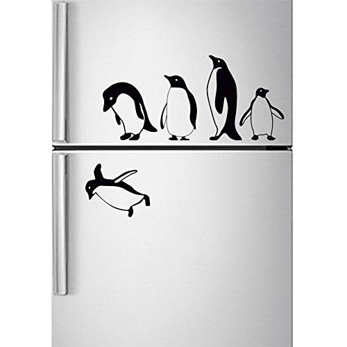 Wall4stickers Pingüinos Etiqueta de Nevera Saltando Volador ...