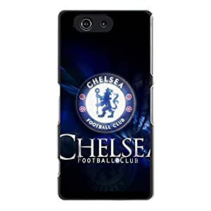 Official Chelsea Football Club CFC Logo Sony Xperia Z3 Compact Mini Cell Phone Case Cover Official EPL FC Series Cool Design Chelsea FC Logo Phone Case
