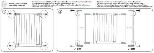 Safety 1st Extension barriere 14 cm u-pressure easy close metal//deco//auto close